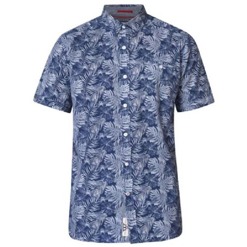 D555 SHELDON LEAF PRINT HAWAIIAN SHIRT